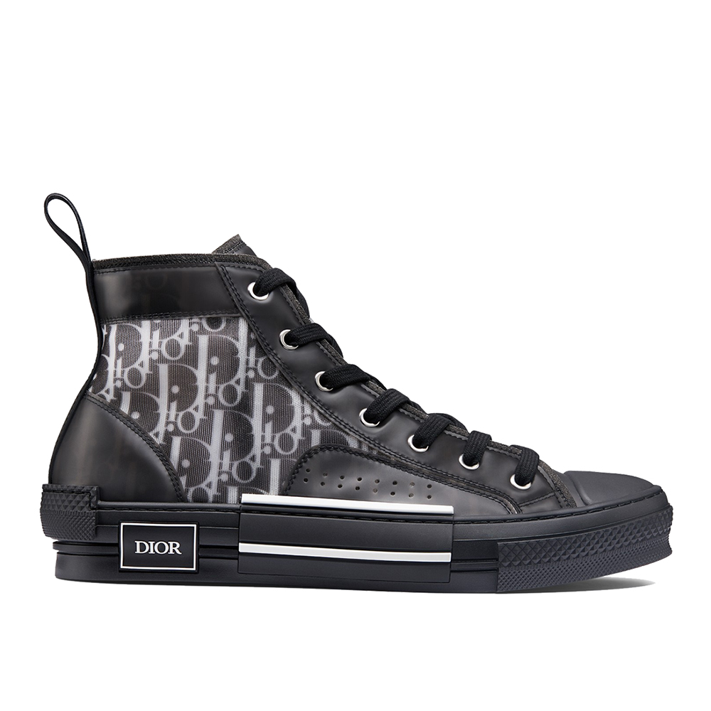 2aa6a306 Dior B23 High Top Canvas Oblique Black